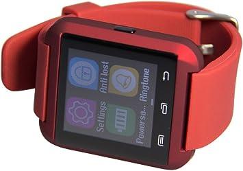Teluro TLL00023 Reloj Bluetooth para Smartphone, Rojo: Amazon ...