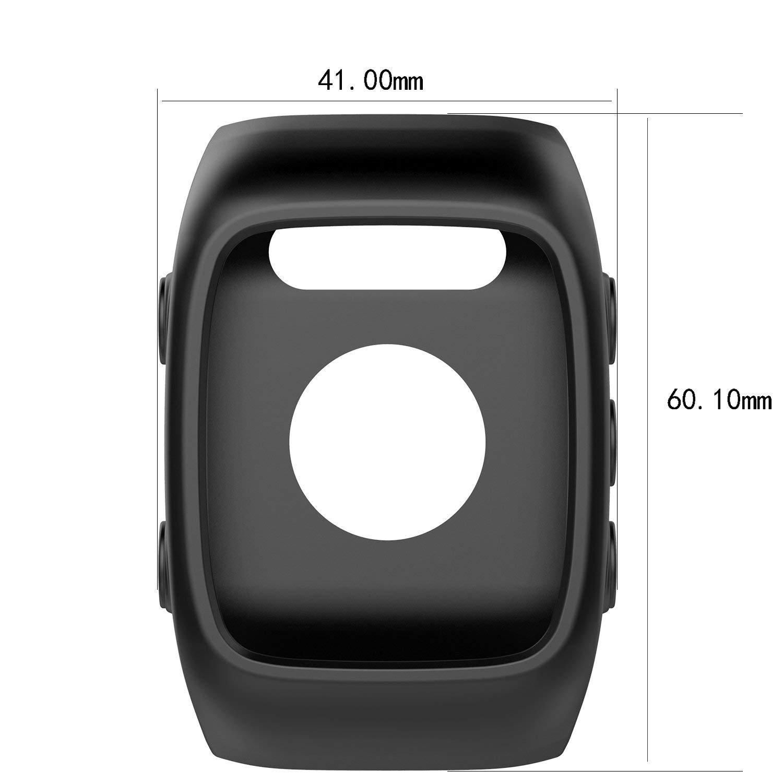 Saisiyiky Polar M400 / M430 Reloj reemplazo Banda Cubierta Protectora Manga, Silicona Protectora Bolsa para Polar Unisex M400 / M430 Reloj GPS(Negro)