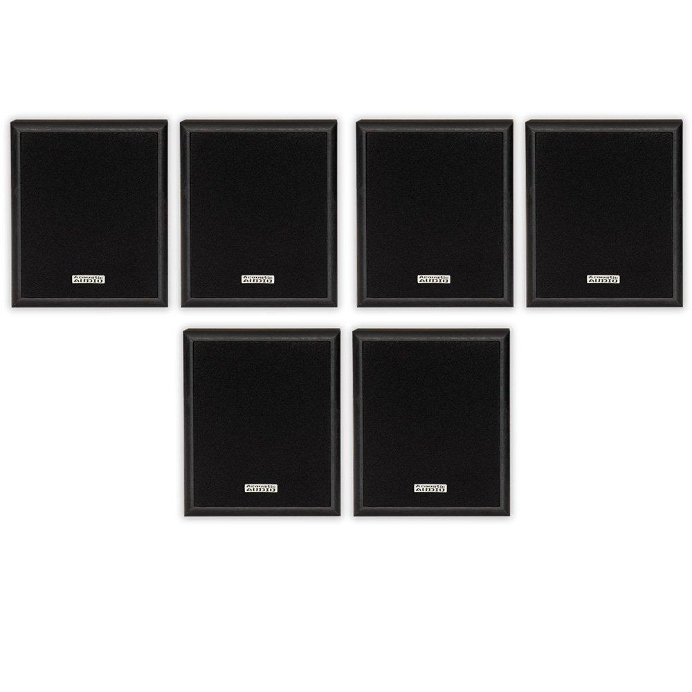 Acoustic Audio RW-SP3 Bookshelf Speakers 300 Watt 2 Way Home Theater Audio 3 Pair Pack RW-SP3-3PR by Acoustic Audio by Goldwood