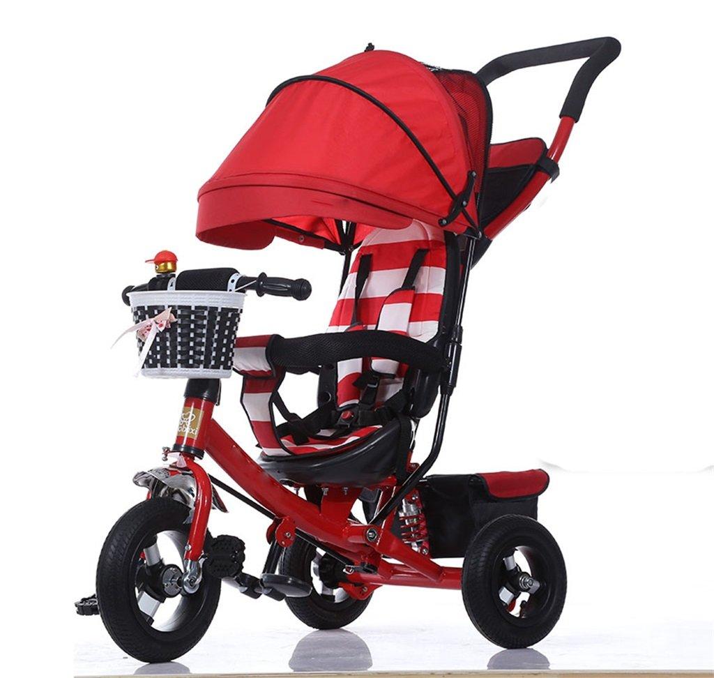 KANGR-子ども用自転車 三輪車の赤ちゃんキャリッジバイク子供のおもちゃの車のチタンの車輪/泡ホイールの自転車3つの車輪、赤い折り畳み式(ボーイ/ガール、1-3-5歳) ( 色 : A type ) B07BTWWHX4A type