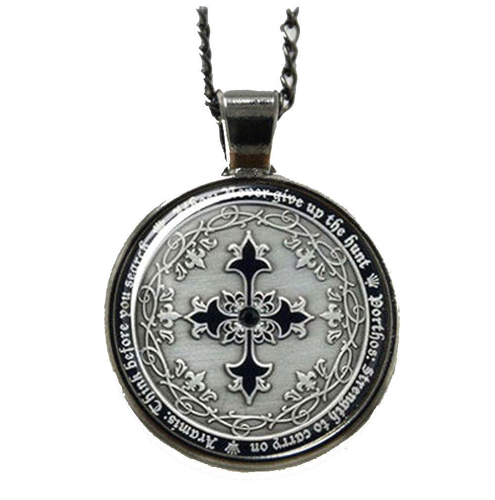 3 Musketeers French Cross Athos Porthos Aramis Blackened Silver