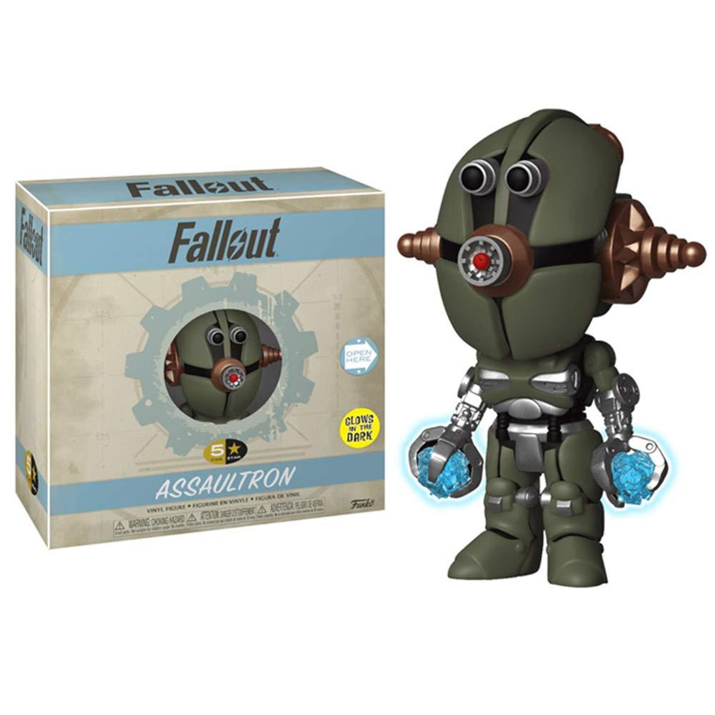 5 Star Funko Pop Fallout S2 Vault Boy T-51 Power Armor and Assaultron GW Bundle Set of 2