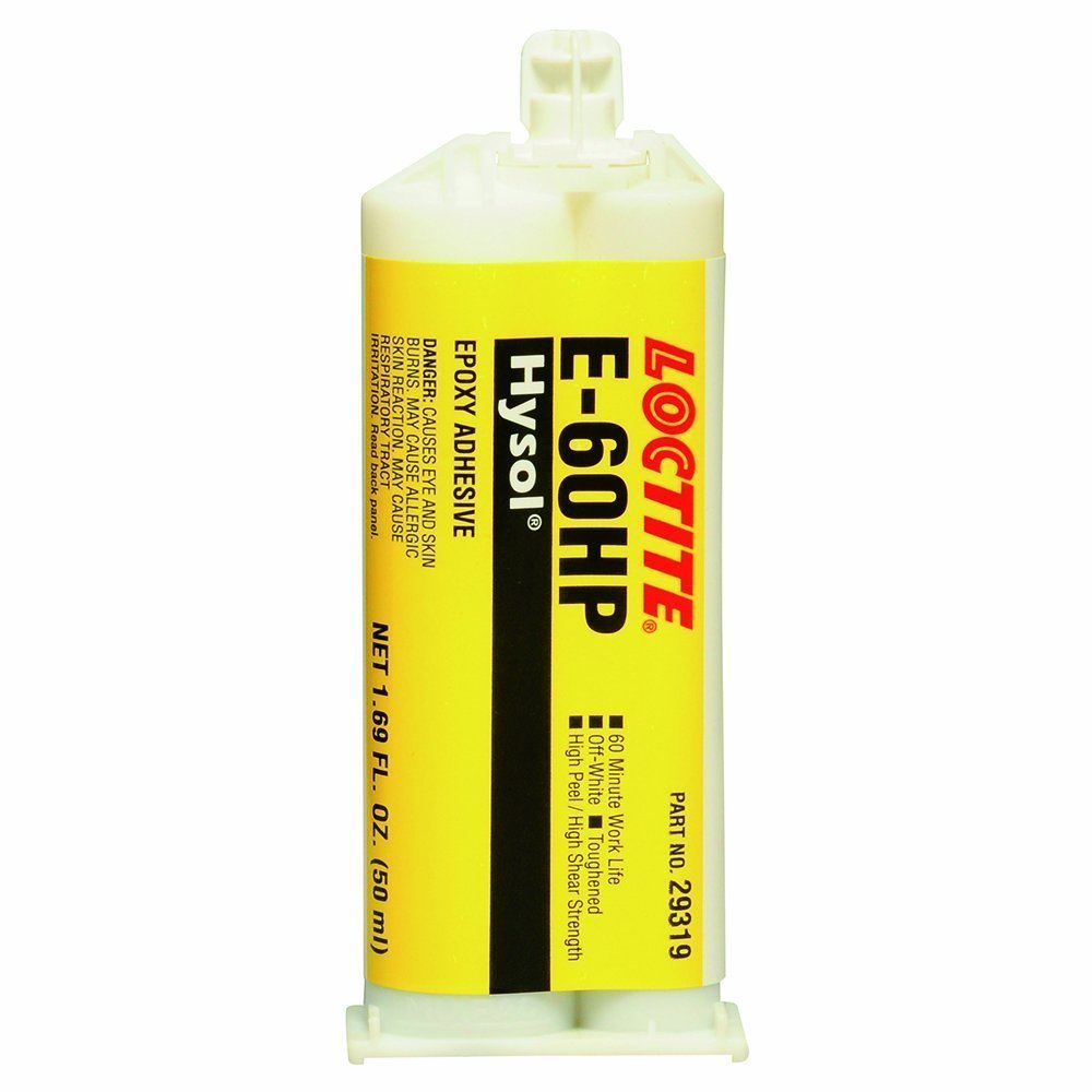 Loctite 237110 Off White E-60HP Hysol Epoxy Structural Adhesive, Toughened, 50 mL, 1.69 fl. oz, Dual Sided Cartridge