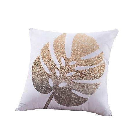 Gold Shining Printed Polyester Throw Pillow Case Cushion Cover Home Sofa Decor b