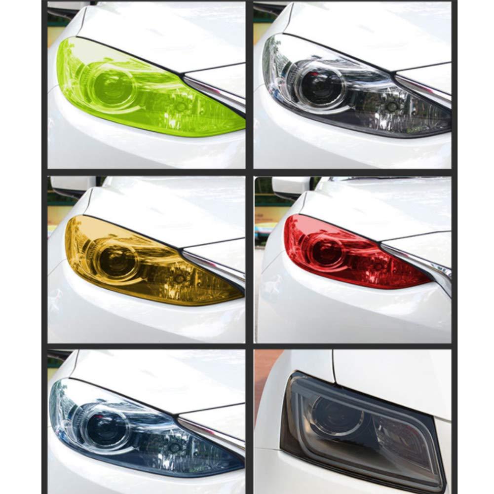 AzuNaisi Auto Adhesivo de Coches Accesorios Cola del camale/ón Trasera de la Linterna de la pel/ícula Impermeable Etiqueta engomada del Tinte del Vinilo Wrap Negro Luz