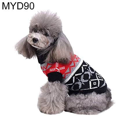 79324257a2b7 Amazon.com  lriumpexplo Cool Dog Puppy Costume Autumn Winter High ...
