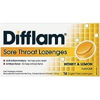 Difflam Difflam Sore Throat Lozenges,, Honey and Lemon 16 count