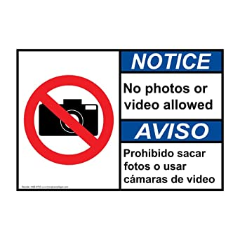 Amazon.com: compliancesigns señal de ANSI aviso de aluminio ...
