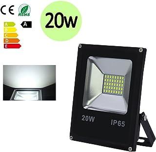 Hengda® Faretto LED Bianco Naturale Potente Portatile superiore proiettore FloodLight (3 pezzi di 20w bianco freddo)