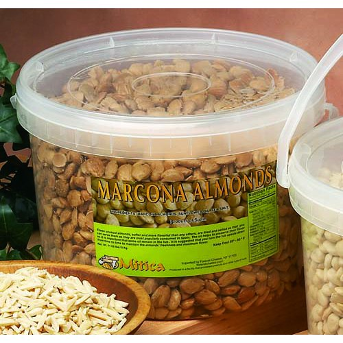 Fried Spanish Marcona Almonds - 11 Lb Case by Gourmet555 (Image #1)
