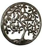 Tree of Life Wall Art, Nature Inspired, Handmade in Haiti, Steel Metal Decor, Indoor and Outdoor 17''x17'' Fair Trade Federation Certified