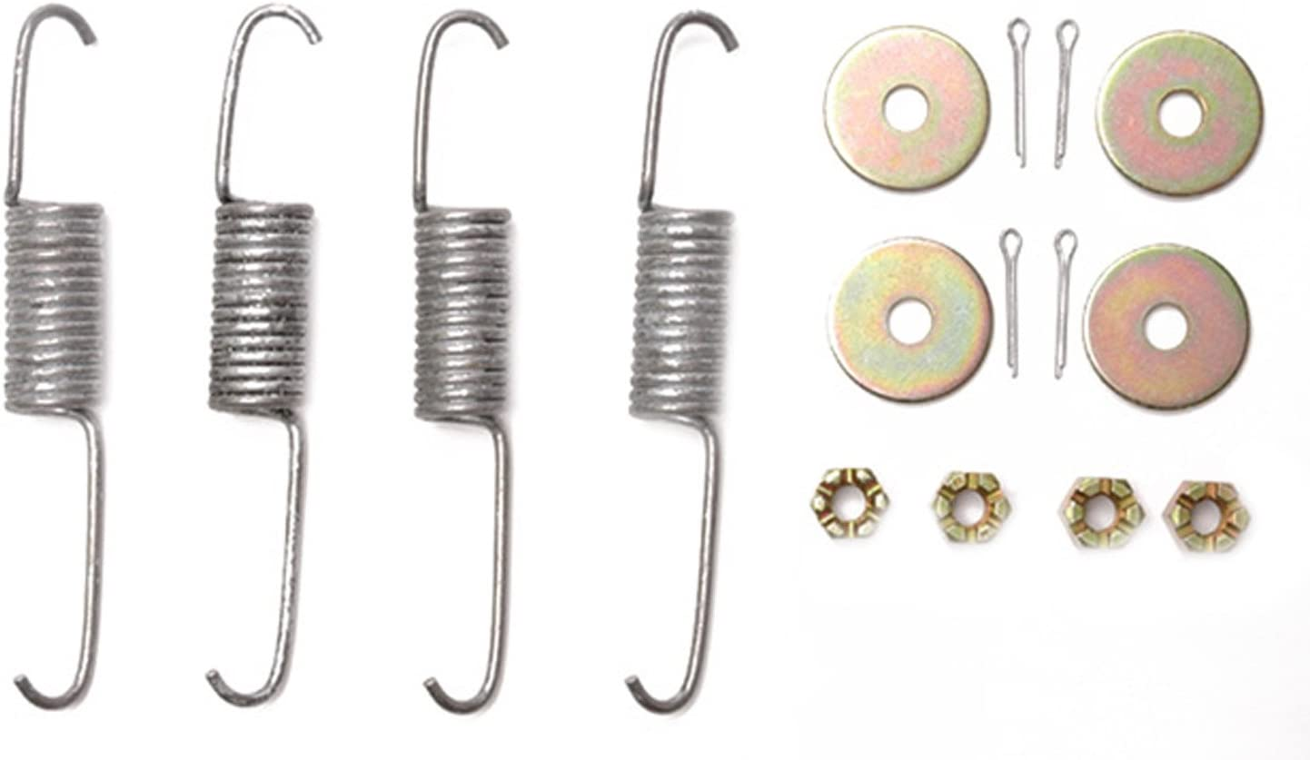 and Nuts Pins Washers ACDelco 18K1666 Professional Rear Drum Brake Hardware Kit with Springs