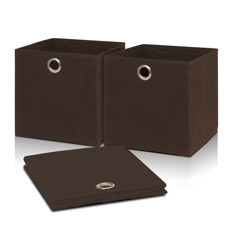 Furinno FB1403BR Laci Fabric Collapsible, Brown