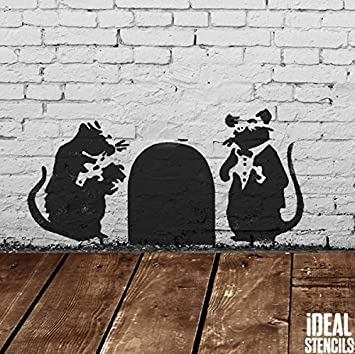 Banksy Doormen Rats Stencil | Reusable Home Decor & Art