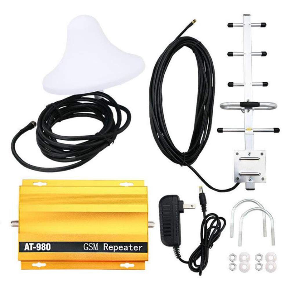 Signal Booster, KKmoon AT980 Mobile Phone Signal Booster Cell Phone 2G GSM900MHz Signal Repeater for Home Amplifier Complete Set by KKmoon