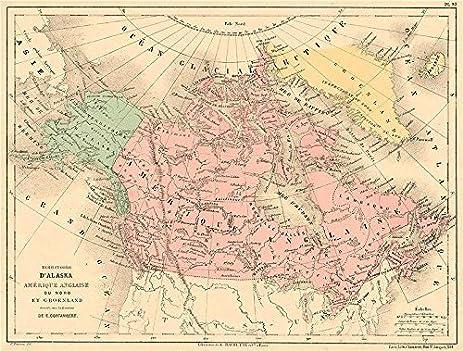 Amazoncom BRITISH AMERICA GREENLAND ALASKA Canada North - Old map of canada