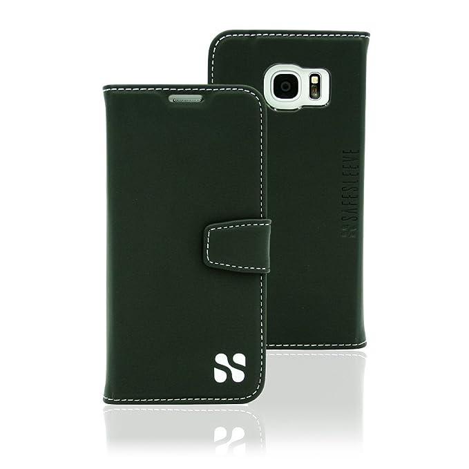 ace97f7d8f31 Anti Radiation RFID Galaxy Case: Galaxy S7 Edge ELF & RF Blocking Identity  Theft Protection Wallet (Black)