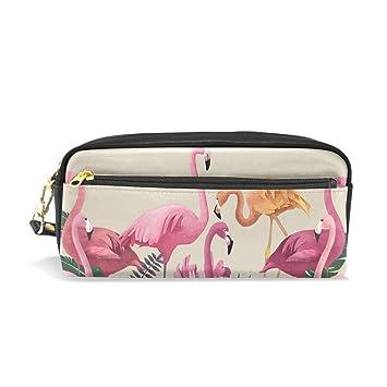 bennigiry Flamingo luz lápiz bolsas caja de lápiz caso bolsa ...