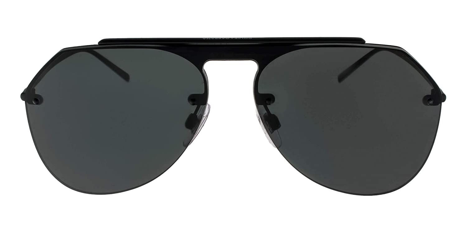 Dolce and Gabbana DG2213 110687 Matte Black DG2213 Pilot Sunglasses Lens Catego