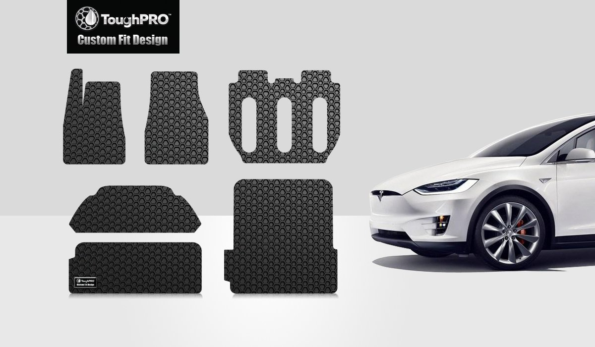 7 Seater Only Built from 10//18//16 to 8//22//17 Heavy Duty - - Black Rubber 2017 Made in USA - All Weather ToughPRO Completed Set Compatible with Tesla Model X