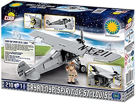 COBI Blocks Smithsonian Spirit of St Multicolo Louis Plane Model Building Kits