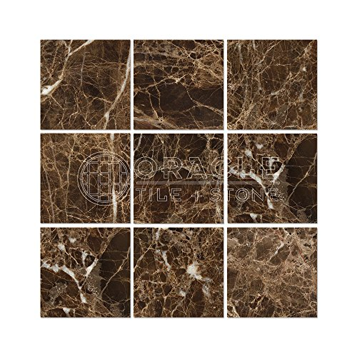 Emperador Dark Spanish Marble 4 X 4 Field Tile, Polished
