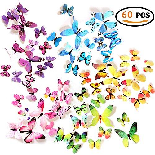 Cheap  Ewong Butterfly Wall Decals - 60 PCS 3D Butterflies Home Decor-Stickers -..