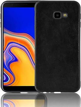 Coque Funda Samsung Galaxy J4 Plus,TPU y Cuero de PU Carcasa de telefono para Samsung Galaxy J4 Plus(Negro): Amazon.es: Electrónica