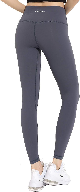 Alta Traspirazione Vita Alta ACTIVE NOW Leggings Sportivi Donna 2 Tasche Laterali Controllo Pancia Palestra Yoga Allenamento Tessuto Non Trasparente Corsa Danza Elasticit/à in 4 direzioni