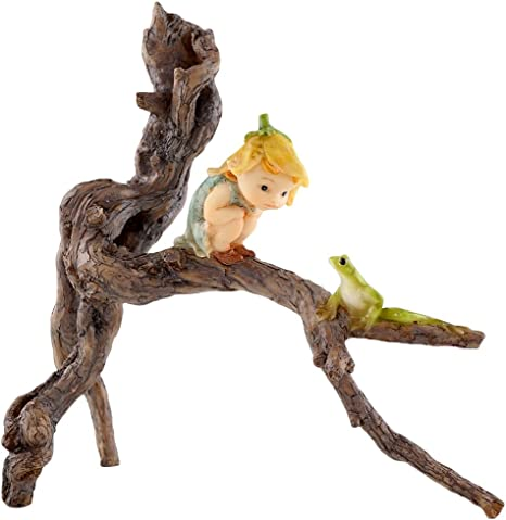 Top Collection Miniature Fairy Garden and Terrarium Gnome Riding on Turtle Statue