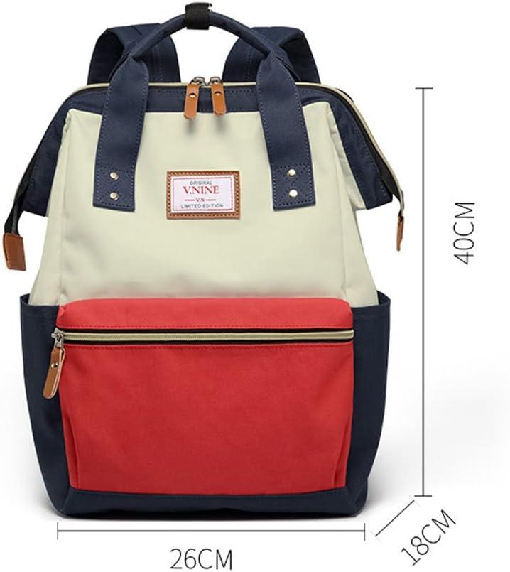Student Bag Female Shoulder Bag Male Korean New Backpack Color : A