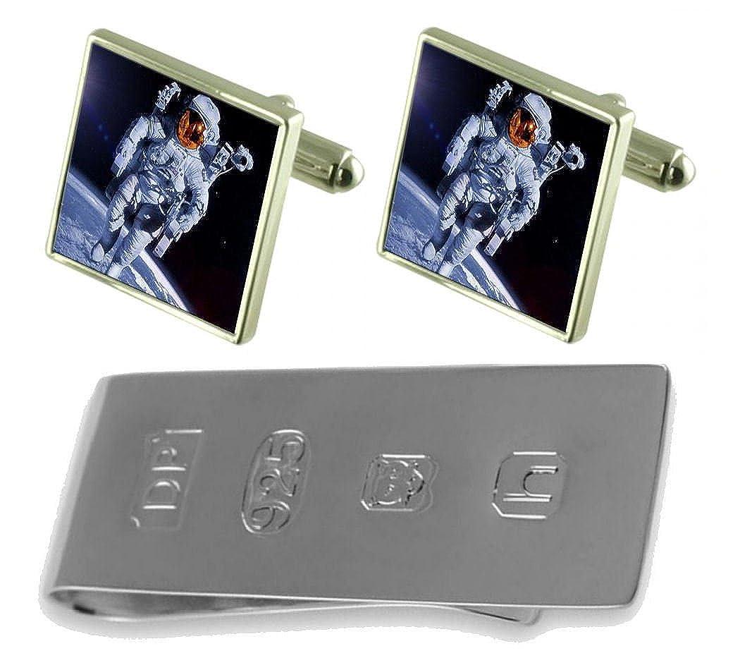 Select Gifts Astronaut Space Cufflinks /& James Bond Money Clip