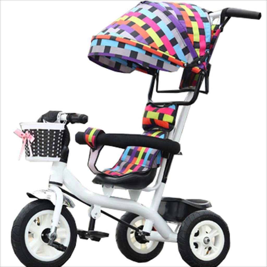子供の屋内屋外の小さな三輪車自転車の男の子の自転車6ヶ月6歳の赤ちゃんの三輪車の女の子の自転車三輪トロリー天井、ゴムホイール (色 : 1) B07DVKBG5C 1 1
