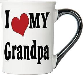I Love My Grandpa Coffee Mug, Ceramic Grandpa Coffee Cup, Grandpa Gifts By Tumblewee