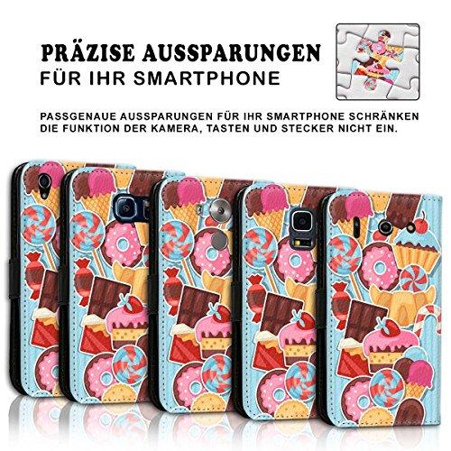 Wallet Book Style Flip Handy Tasche Case Schutz Hülle Schale Motiv Etui für Apple iPhone 4 / 4S - Design Flip MVD59