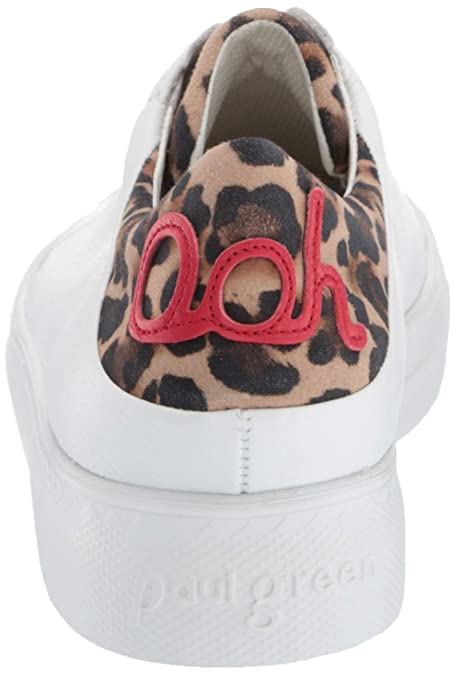 6790aeb9d232 Amazon.com: Paul Green Women's Ajay Sneaker White Leopard Combo 8 M US:  Shoes