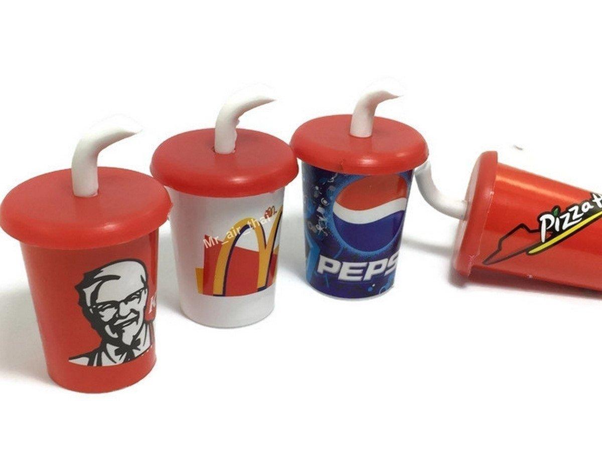4pc Pizza Pepsi KFC Macdonald Cola Cup Wall Magnet Collection 3d Fridge Magnet SOUVENIR TOURIST GIFT