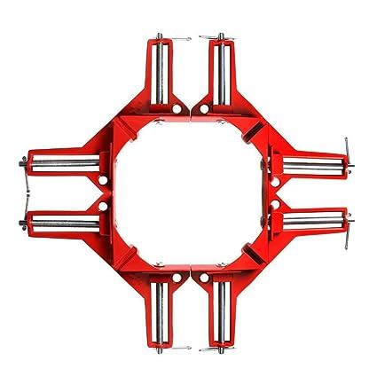 Esquina Abrazaderas, goodchanceuk 4pcs 90 Grado Derecho ángulo Clamp Picture Framing carpintería tornillo de soldadura