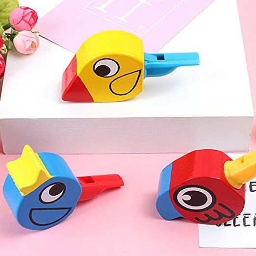 ypypiaol Dibujo Colorido De Madera Forma De Pájaro Silbato Niños ...