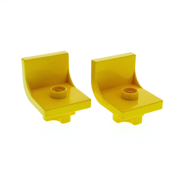 LEGO Duplo 2x Stuhl Sitz gelb 4839