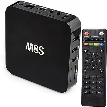 Android TV Box 4 K Smart TV 4 K Quad Core KODI M8S Internet TV: Amazon.es: Electrónica