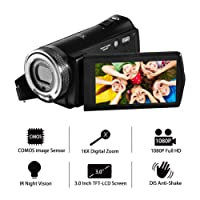 "Camcorder Video Camera FHD 1080p Digital Camera 16X Zoom 20.0MP Camera Night Vision Video camera 3.0"" TFT LCD Screen with remote control"