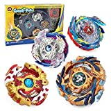 Aomeiter Bey Battle Burst God Evolution High Performance Battling Top Set with 4D Launcher Stater Grip and Stadium Battle Set (Yellow)