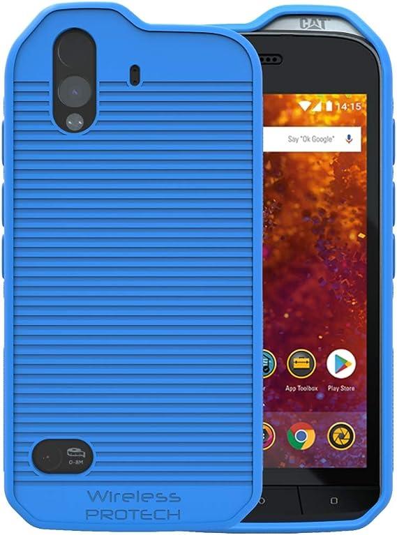 Amazon Com Cat S61 Case Wireless Protech Flex Skin Tpu Material Case For Caterpillar Cat S61 Phone Blue