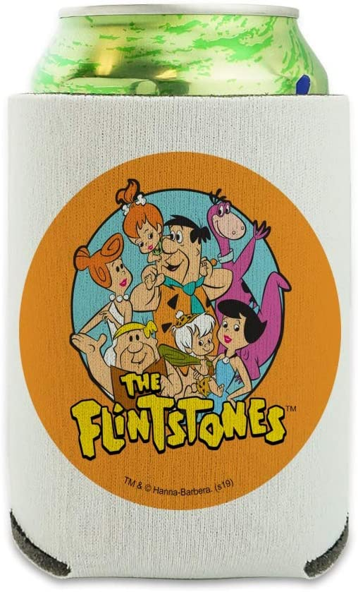The Flintstones Group Can Cooler - Drink Sleeve Hugger Collapsible Insulator - Beverage Insulated Holder