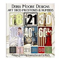 Debbi Moore Designs Art Deco Milestones & Numbers CD Rom (326280)