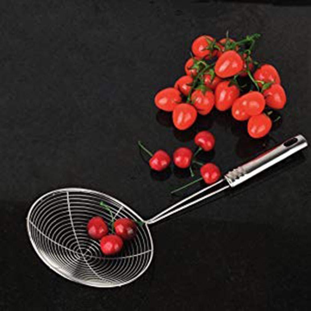 Kirken Restaurant Kitchen Mesh Strainer Non Slip Handles Fry Spoon Noodle Basket Food Strainers