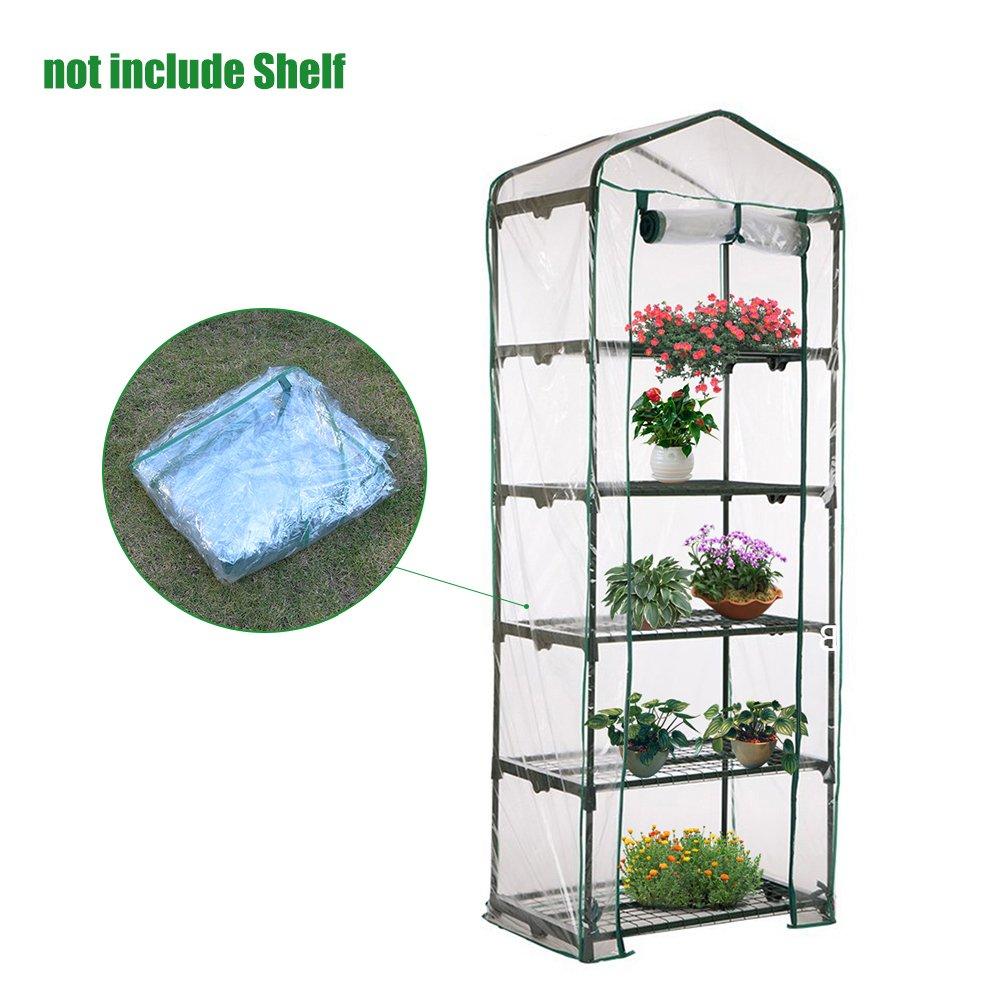Jardinería Invernaderos 5 Pisos Cubiertas de Invernadero Miniinvernadero Caseta para Plantas Transparente Impermeable de PVC para Plantas y Flores Casa ...