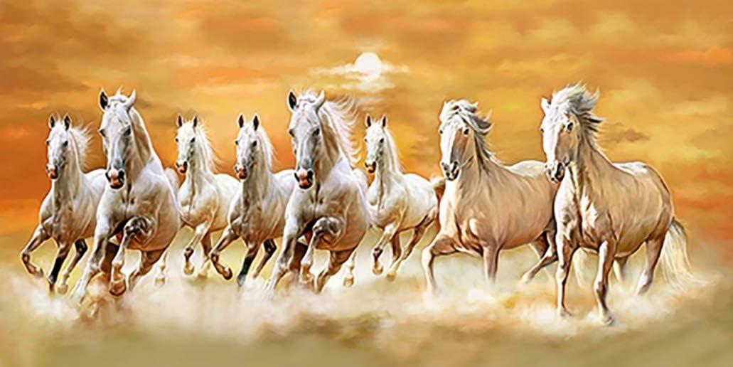 The Art Factory Feng Shui ocho de cuadros de caballo 152,4 cm x 60,96 cm