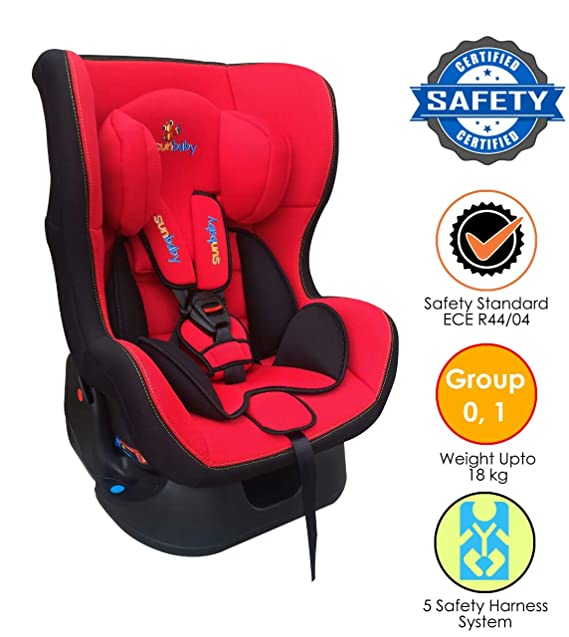 Sunbaby Amour Carseat Rearward-Forward Facing Car Seat  (Red)